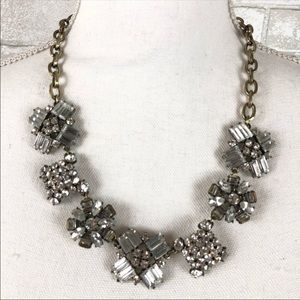 J. Crew | Clear Crystal Costume Jewelry Necklace